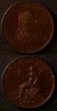 London Coins : A138 : Lot 2382 : Halfpenny 1799 Bronzed Pattern Peck 1234 KH16 GEF with some contact marks, Farthing 1799 Proof K...