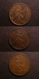 London Coins : A139 : Lot 2096 : Pennies (3) 1872 Freeman 62 dies 6+G About EF, 1861 (2) Freeman 22 dies 4+D VF, 1861 Freeman...