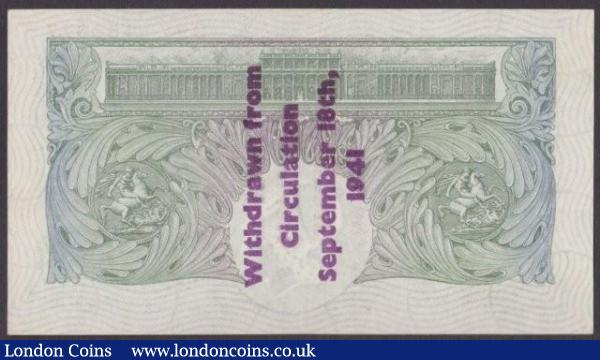 One Pound Mahon B212A Guernsey overprint series D94 154877, this is EF to UNC condition, and thus being the finest condition of all the 48 notes known in the hoard. : English Banknotes : Auction 140 : Lot 147