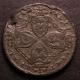 London Coins : A140 : Lot 1668 : USA Plantation Halfpenny token (1/24 Real) undated (1688) Breen 77 Fine with flan flaws, all maj...