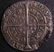 London Coins : A141 : Lot 1089 : Groat Henry VI Annulet issue Calais Mint S.1836 mintmark Incurved Pierced Cross About VF