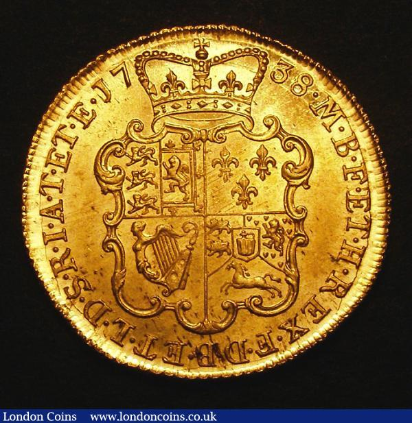 two guineas 1738 buy and sell english coins auction prices. Black Bedroom Furniture Sets. Home Design Ideas