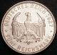 London Coins : A141 : Lot 698 : Germany - Federal Republic 5 Reichsmarks 1927F 450th Anniversary of the University of Tubingen KM#55...