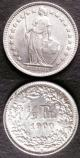 London Coins : A141 : Lot 824 : Switzerland Half Franc (2) 1898 KM#23 Lustrous UNC, 1900 KM#23 EF