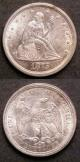 London Coins : A142 : Lot 1027 : USA (2) Twenty Cents 1875S Clear S Breen 3874 GEF lustrous and scarce, Quarter Dollar 1861 Type ...
