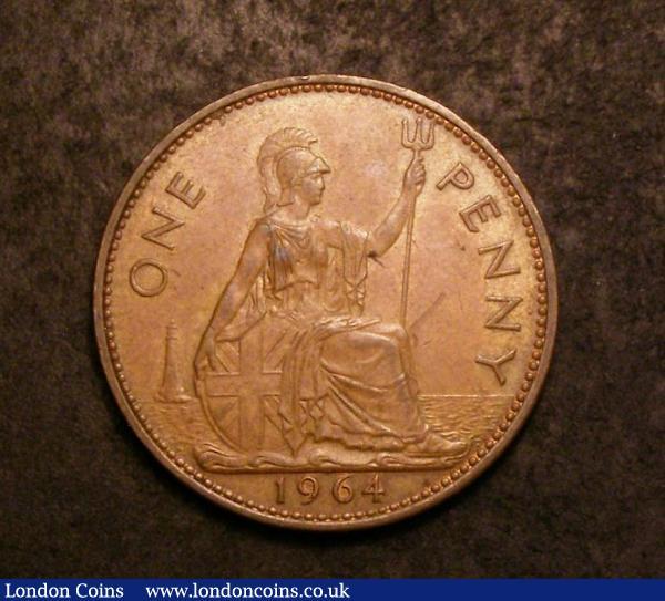 Mint Error - Mis-Strike Penny 1964 Reverse Brockage About