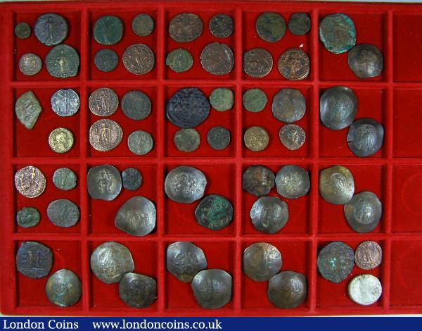 Mixed Ancients (58) Byzantine copper (20), Roman (mostly bronze (38) generally in low grades : Ancient Coins : Auction 142 : Lot 1739