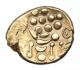 London Coins : A142 : Lot 1772 : Stater Au. Durotriges. 'Cranborne chase type'. C,58-45 BC. Obv; Abstract head of Apo...