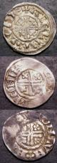 London Coins : A142 : Lot 1851 : Hammered (3) Short cross pennies, Richard I Class 4a MENIR ON CANT, pelleted beard and cresc...
