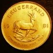 London Coins : A143 : Lot 1110 : South Africa Krugerrand 1981 KM#73 UNC starting to tone