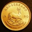 London Coins : A143 : Lot 1111 : South Africa Krugerrand 1990 KM#73 almost BU