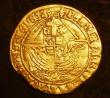 London Coins : A143 : Lot 1427 : Angel Henry VIII Third Coinage S.2299 Annulet by Angel's head and on ship mintmark Lis Good Fin...