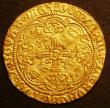 London Coins : A143 : Lot 1453 : Half Noble Henry VI First Reign Annulet by sword arm S.1805 NVF with a small flan crack at 4 o'...