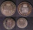 London Coins : A143 : Lot 2092 : Maundy Set 1686 ESC 2381 comprising Fourpence ESC 1860 NEF/EF, Threepence ESC 1981 NEF, Twopence ESC...