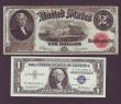 London Coins : A143 : Lot 300 : USA (5) $2 series 1917 Pick188 good Fine and $1 Silver Certificate 1957 Pick419 UNC, also Citizen...