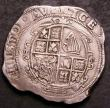 London Coins : A144 : Lot 1145 : Halfcrown Charles I under Parliament, no ground, cruder workmanship, S.2778 mintmark ( R ) Good Fine...