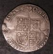 London Coins : A144 : Lot 1209 : Shilling Charles I Group A, Bust 2, Larger Crown S.2782 mintmark Lis Fine with a metal flaw at 9 o&#...