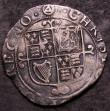 London Coins : A144 : Lot 1223 : Shilling Charles I Group F, Sixth Large Briot Bust type 4.4 with stellate lace collar S.2799 mintmar...