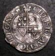 London Coins : A144 : Lot 1296 : Threepence Charles I Aberystwyth Mint S.2894 Fair/Fine on an uneven flan