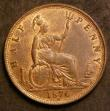 London Coins : A144 : Lot 1775 : Halfpenny 1876H Freeman 329 dies 14+M UNC with around 25% lustre