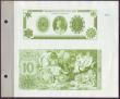 "London Coins : A144 : Lot 225 : Thomas De La Rue ""Direct Plate Process Colour Specimens"", two colour specimens (green) for..."