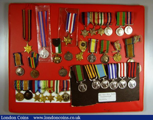 Miniature Medals (32), Victorian issues (six hallmarked silver), man