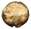 London Coins : A145 : Lot 1206 : Stater Au. Trinovantes.  Late Whaddon Chase type.  C, 45-40 BC.  Obv; Almost plain.  Rev; Horse r, p...