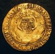 London Coins : A145 : Lot 1241 : Half Sovereign Henry VIII with HENRIC 8 legend mint mark arrow 1547 - 1551 posthumous coinage youthf...