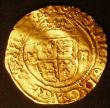 London Coins : A145 : Lot 1249 : Halfcrown in Gold Henry VIII S.2311, Schneider 639 double slipped trefoil stops, mintmark Pellet in ...
