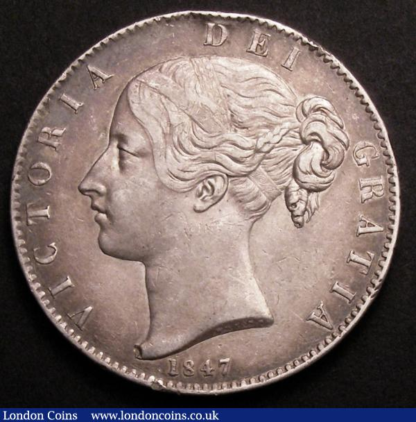 Crown 1847 Young Head ESC 286 NVF with an edge bruise at the top of the obverse : English Coins : Auction 145 : Lot 1373
