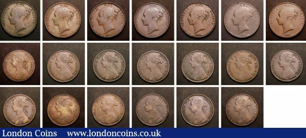 Pennies (20) 1845, 1848, 1853 Plain Trident (2), 1854 Plain