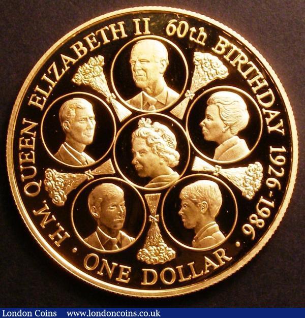 Cook Islands One Dollar 1986 Queen Elizabeth II 60th
