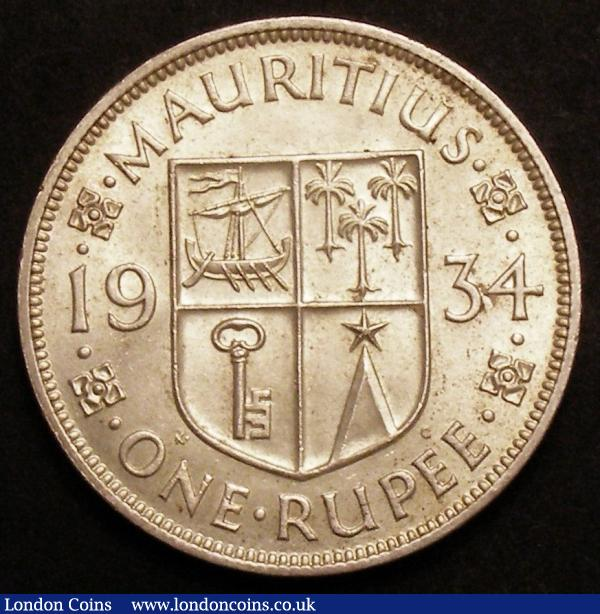 Mauritius Rupee 1934 KM#17 UNC and lustrous with a few light contact marks : World Coins : Auction 145 : Lot 689