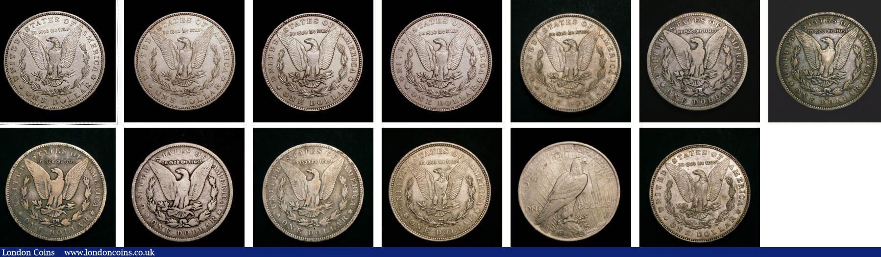 1879, 1880 O, 1881 O, 1884, 1885S, 1886, 1887 O, 18
