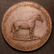 London Coins : A145 : Lot 976 : Halfpenny 18th Century Middlesex 1801 Pidcocks DH428 Obverse : A lion with a dog upon its back, Reve...