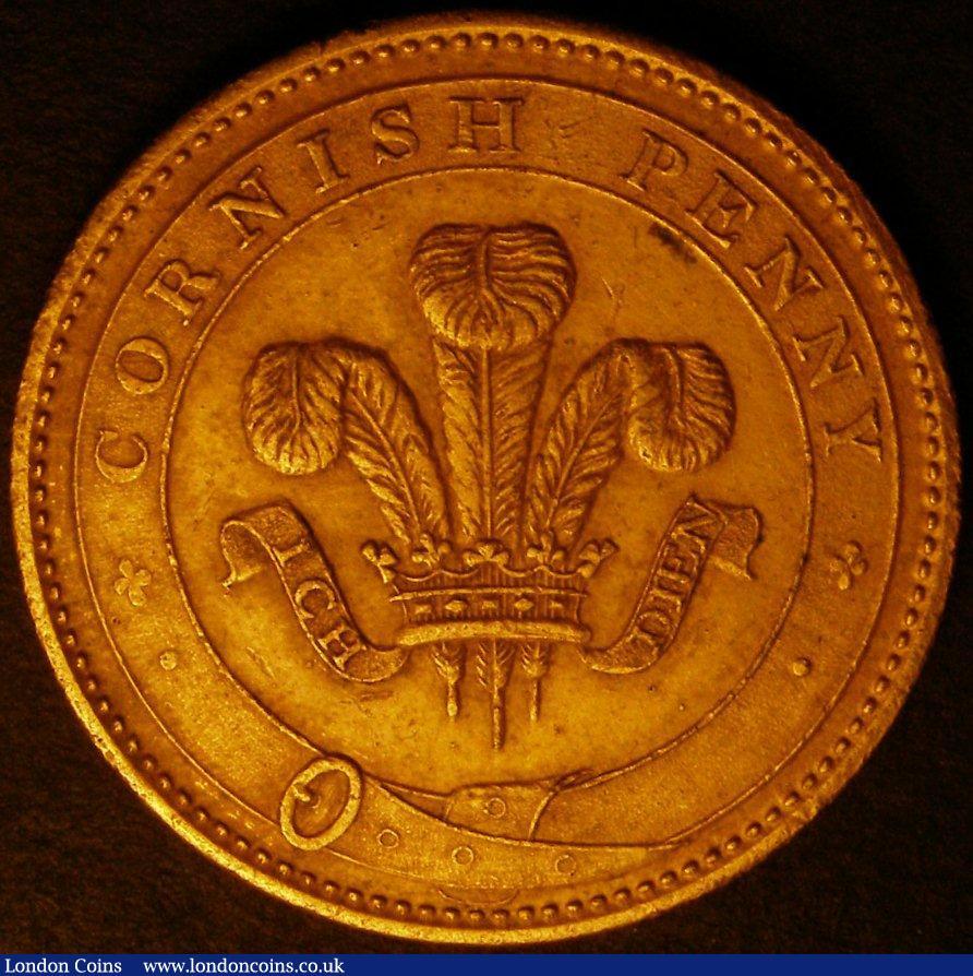 Penny 19th Century Cornwall 1812 Scorrier House Davis 25a in gilt co