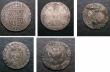 London Coins : A146 : Lot 1594 : Scotland (5) Ten Shillings 1687 VG, 10 Shillings 1691 Near Fine, Shilling James VI Billon issue Abou...
