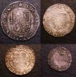 London Coins : A147 : Lot 1864 : Maundy Set Charles II Hammered issue ESC 2364 Fine to VF the Twopence with a small edge chip