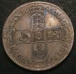 London Coins : A147 : Lot 1955 : Crown 1686 No Stops on Obverse ESC 77 VF with an attractive grey tone with hints of blue, slabbed an...