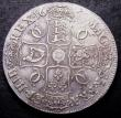 London Coins : A147 : Lot 2072 : Crown 1668 ANNO.REGNI edge ESC 36 About VF with some uneven tone, slabbed and graded CGS 40 desirabl...
