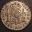 London Coins : A147 : Lot 2232 : Dollar George III Oval Countermark on 1793 Bolivia 8 Reales ESC 131 countermark EF host coin VF unev...