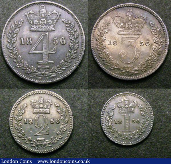 Maundy Set 1856 ESC 2467 Fine to VF the Fourpence with some digs on the obverse : English Coins : Auction 147 : Lot 2764