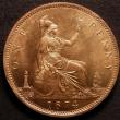 London Coins : A147 : Lot 2935 : Penny 1874 Freeman 70 dies 7+G Choice UNC and lustrous with some light toning on the obverse, slabbe...