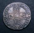 London Coins : A147 : Lot 3033 : Shilling 1708 E* Second Bust ESC 1145 VG with a scratch on the bust and a small edge crack