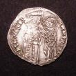 London Coins : A147 : Lot 735 : Crusaders Denier, Obverse King enthroned, facing, Reverse Dukes of Athens VF