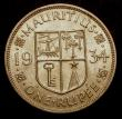 London Coins : A147 : Lot 857 : Mauritius One Rupee 1934 KM#17 Lustrous UNC