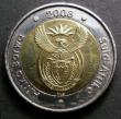 London Coins : A147 : Lot 907 : South Africa 5 Rand 2008 Nelson Mandela 90th Birthday CGS UNC 85