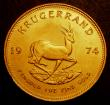 London Coins : A147 : Lot 915 : South Africa Krugerrand 1974 KM#73 UNC with a couple of light handling marks