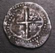 London Coins : A147 : Lot 921 : Spain 2 Reales Cob Phillip II (1556-1598) Seville Mint Good Fine with irregular toning