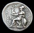 London Coins : A148 : Lot 1438 : Tetradrachm Ar. Kings of Thrace.  Lysimachos.  C, 305-281 BC.  Obv; Head of Alexander the Great wear...